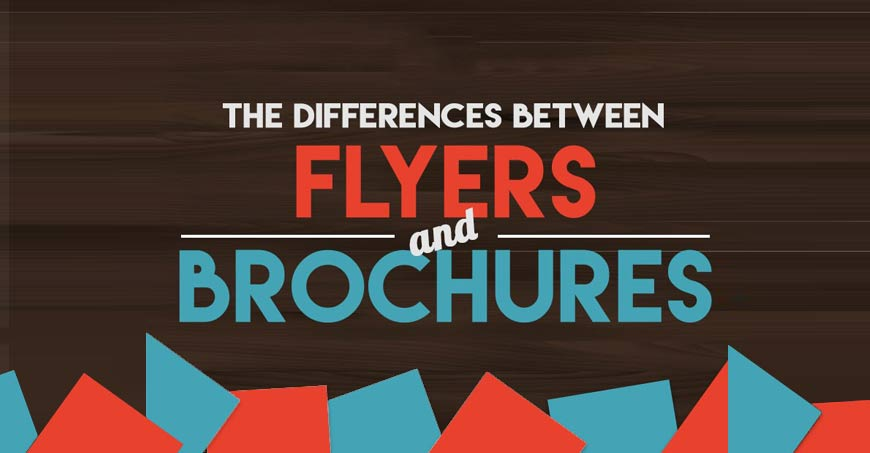 Difference between flyers and brochures